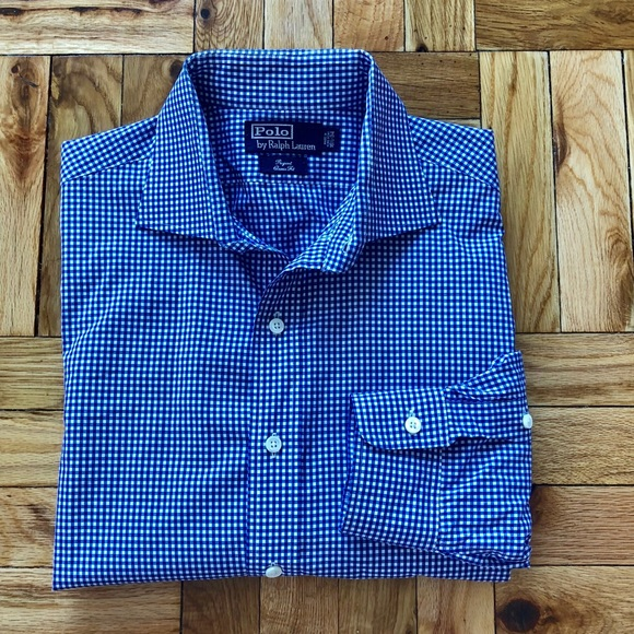 6c284a3d740d Polo Gingham Regent Classic Fit Button Down Shirt.  M 5ac77fdf6bf5a625eb37fdbe